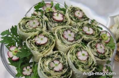 روش تهیه رولت سبزیجات
