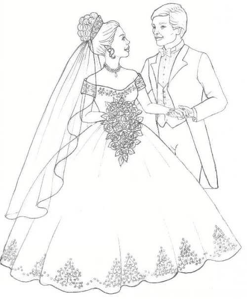 نقاشی جالب عروس