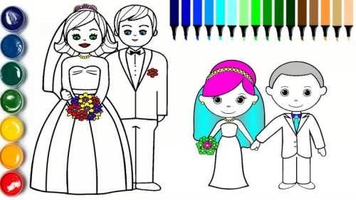 نقاشی زیبا و متفاوت عروس