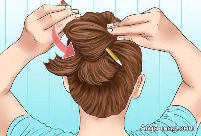بستن مو به کمک مداد