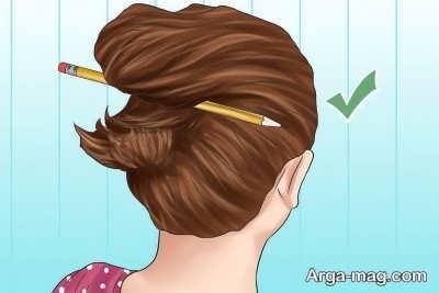 بستن مو با مداد