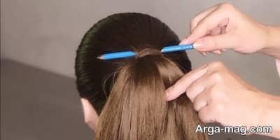 حالت دادن به مو با مداد