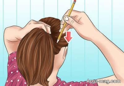 فرم دادن به موها به کمک مداد