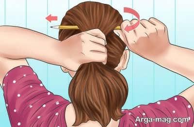 بستن مو با روشی آسان