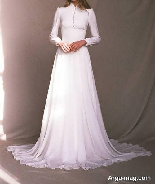 پیراهن عروس یقه بسته