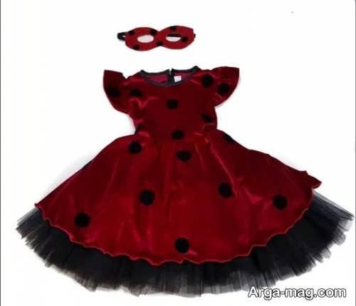 مدل لباس کفشدوزکی کودک