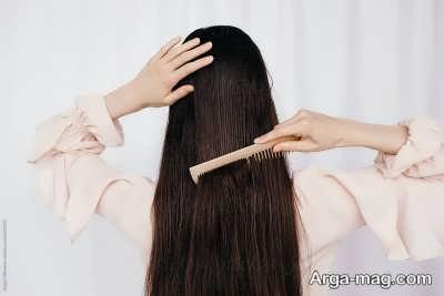 اصول شانه زدن موها پس از حمام