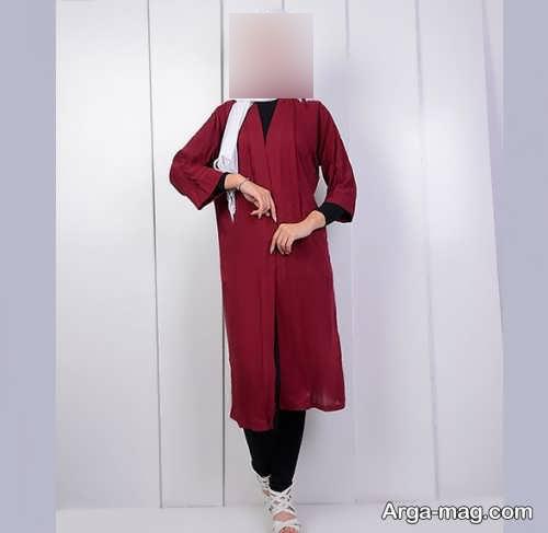 ست لباس زنانه زرشکی و مشکی