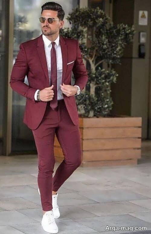 ست لباس زرشکی مردانه