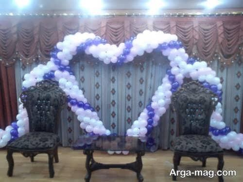 تزیین شیک جایگاه عروس و داماد