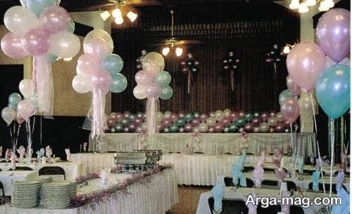 تزیینات جشن عروسی با بادکنک