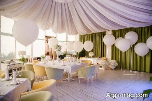 تزیین جشن عروسی با بادکنک