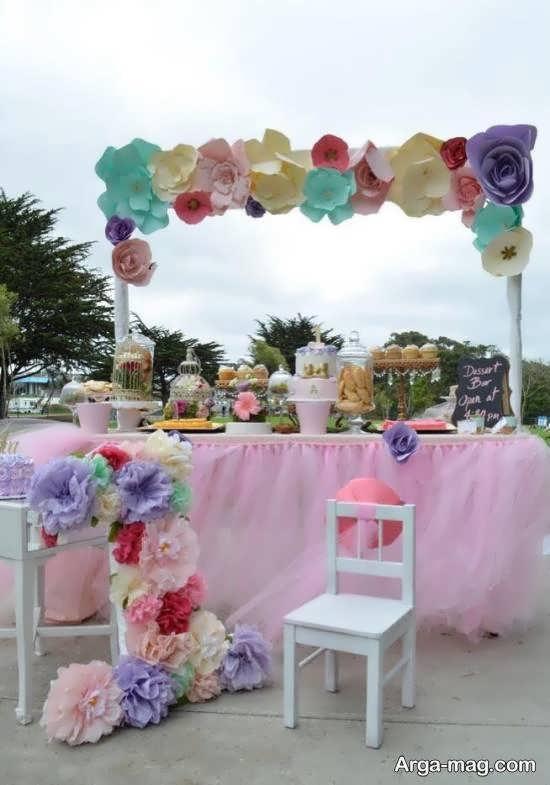 طراحی و دیزاین زیبای تولد با تم گل