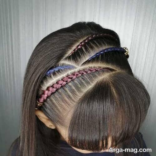 بافت موی دخترانه با مو اضافه