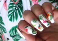 طراحی ناخن هاوایی