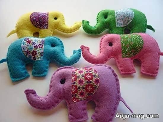 آشنایی با شیوه های ساختن عروسک حیوان فیل