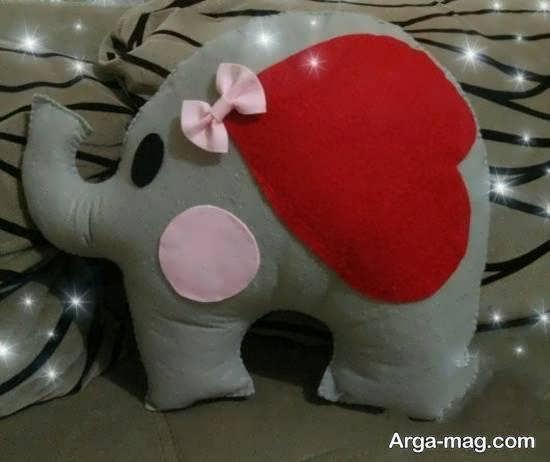 آموزش ساختن عروسک فیل برای کودکان