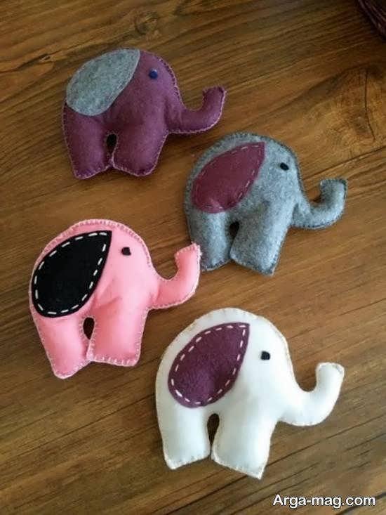 آموختن ساختن عروسک فیل به شکلی خاص
