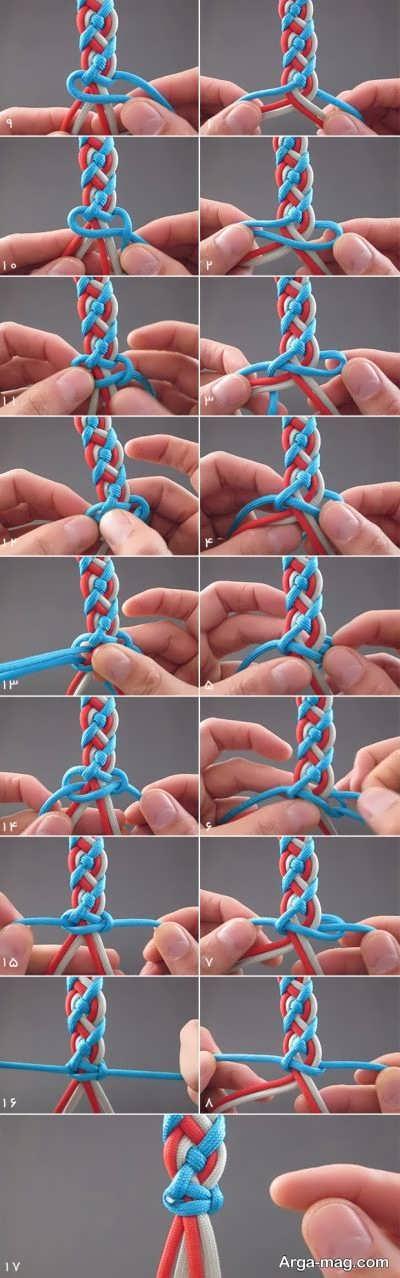 بافتن دستبند با سه روش