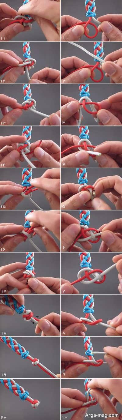 بافتن دستبند با روشی ساده
