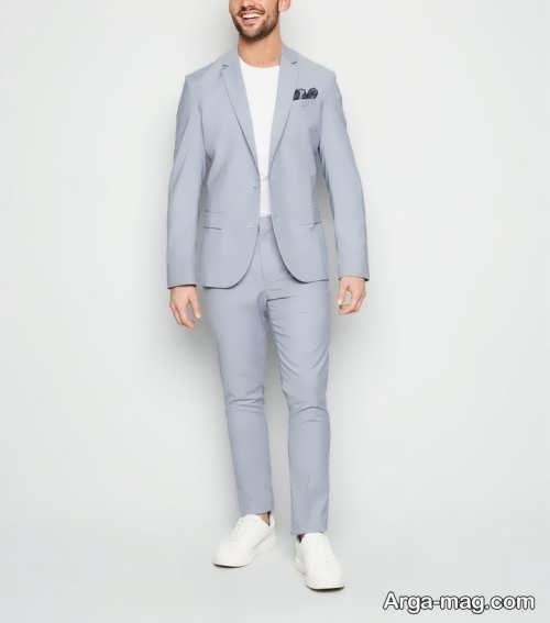 کت شلوار رنگ روشن مردانه