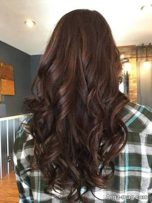 رنگ مو قهوه ای موکا