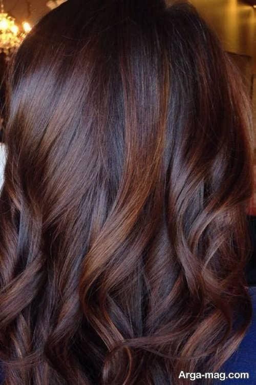 رنگ موی تیره قهوه ای موکا