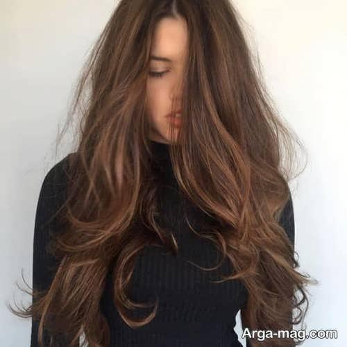 رنگ موی دخترانه قهوه ای موکا