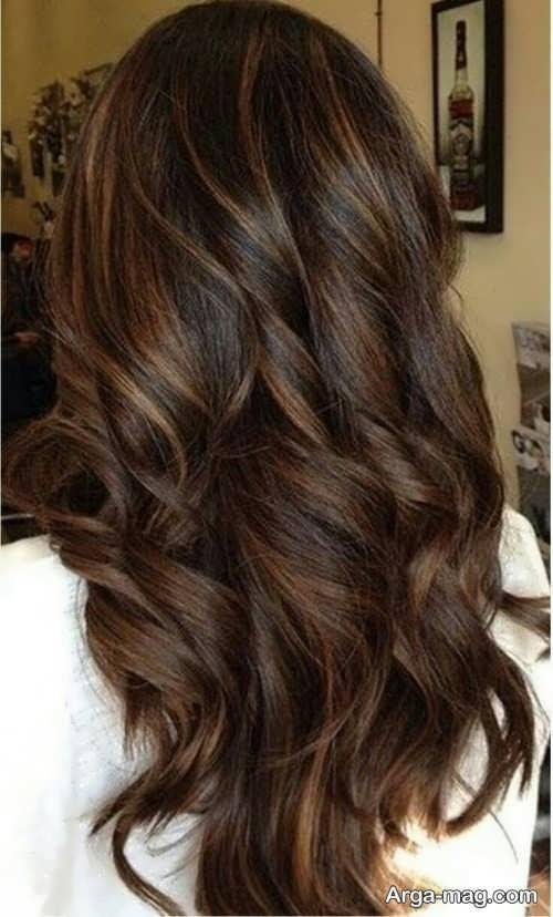 رنگ مو شیک قهوه ای موکا