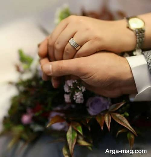 ژست زیبا عروس و داماد