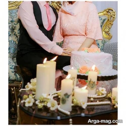 فیگور عروس و داماد در روز عقد