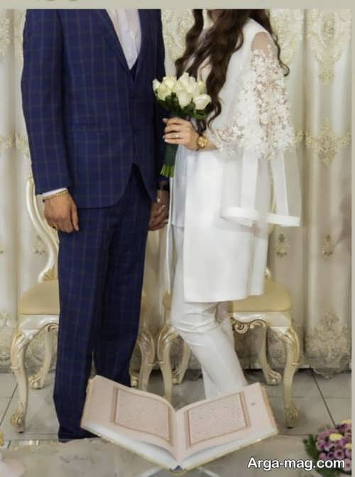 ژست زیبا عکس عروس و داماد