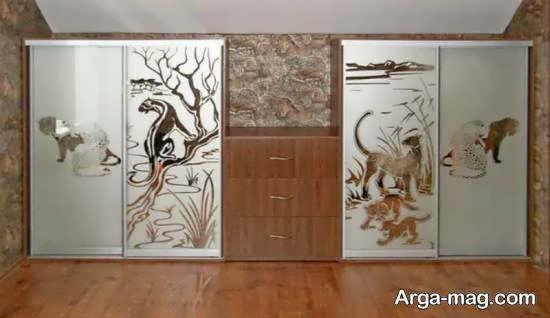 مجموعه ای زیبا از نمونه ی کمد دیواری جادار