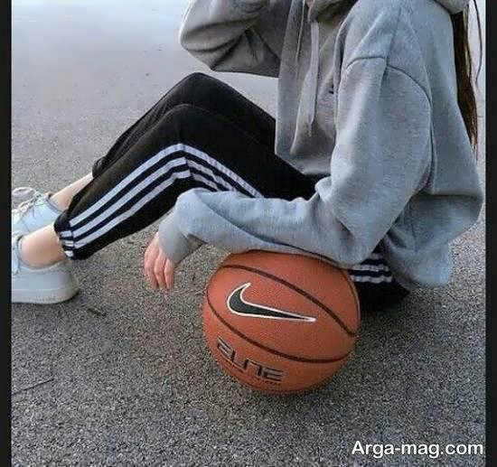 ایده ی جذاب و خاص از فیگور عکس ورزشی دخترانه برای پروفایل