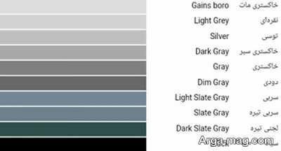 تفاوت میان رنگ طوسی و خاکستری