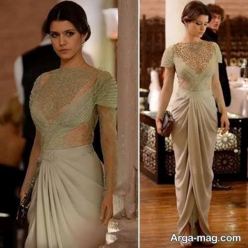 مدل لباس بلند بازیگران ترکیه