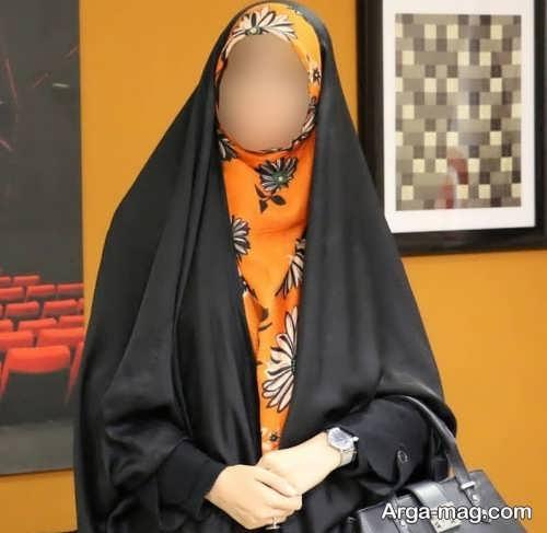 روش بستن روسری از زیر چادر