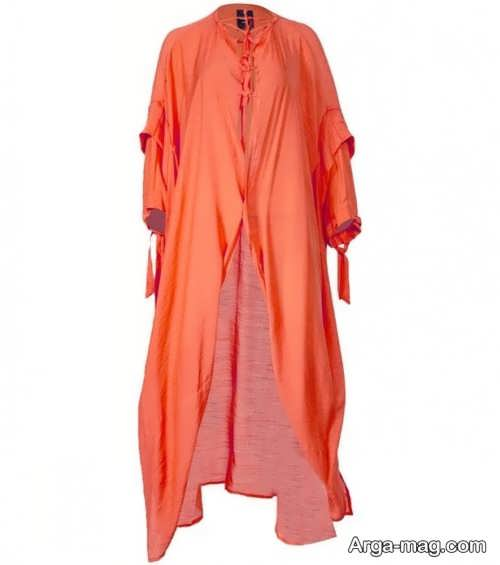 مانتوی نارنجی زنانه