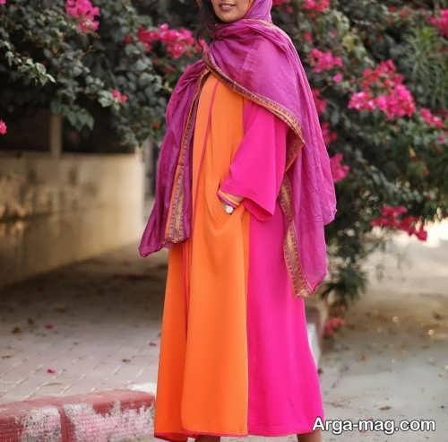 مانتوی بلند نارنجی