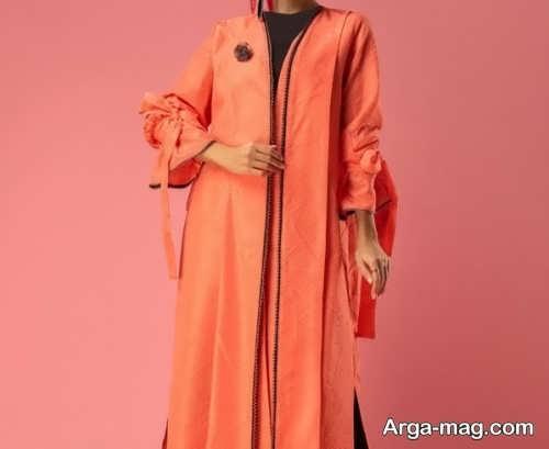 مانتو زنانه نارنجی