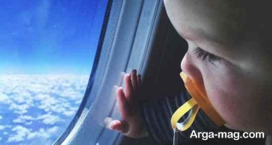 اولین سفر نوزاد با هواپیما