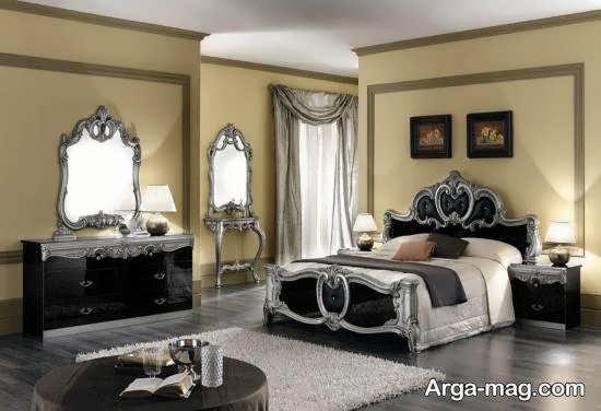 طراحی و دیزاین زیبای تخت خواب در اتاق خواب