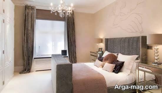 زیباسازی و طراحی تخت خواب در اتاق خواب