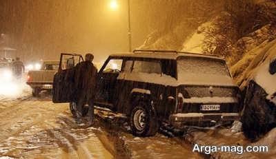 سر خوردن ماشین در برف و باران