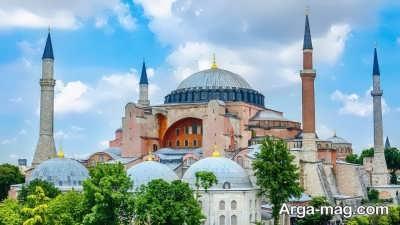 بازدید از مسجد ایاصوفیه در ترکیه