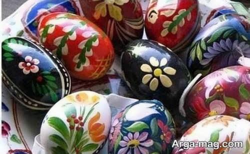 تزیین تخم مرغ به کمک لاک