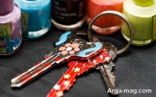 تزیین کلید با لاک
