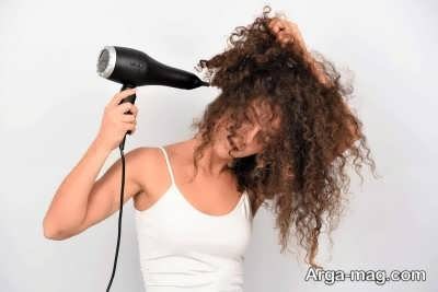 عدم استفاده از حرارت برای موهای فر