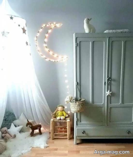 ایده هایی زیبا و منحصر به فرد از تزیین اتاق با ریسه ی نور