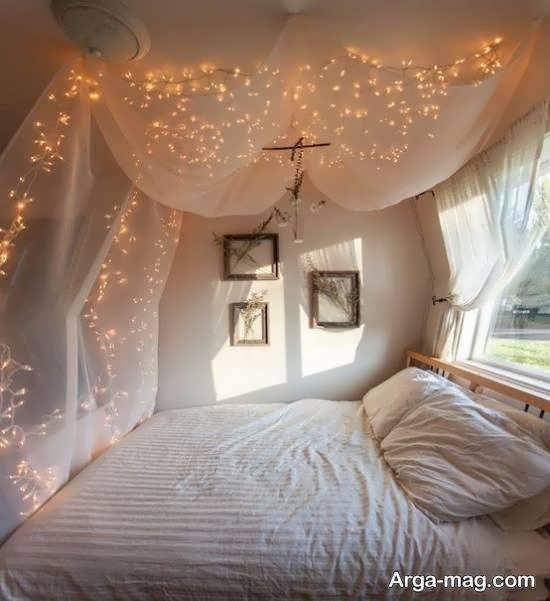تزیینات اتاق با ریسه نور به شکل های زیبا و خاص
